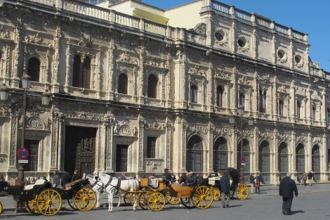 The Ayuntamiento features in the first dramatic recreation, in the time of Cervantes.
