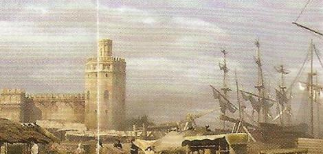 The Torre del Oro in the Arenal, the port for New World ships, which brought back gold, silver and gold.