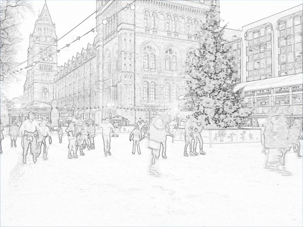 Christmas, skating, tree, skaters, ice rink, skating rink, seasonal, festive