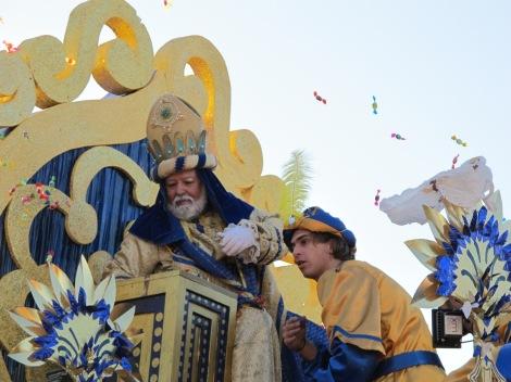 Melchor, Three Kings, Reyes Magos, cabalgata, 2013,Seville, Sevilla