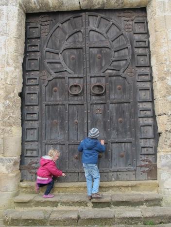 Moorish, door, wooden, castle, Castillo San Marcos, el Puerto de Santa Maria, history, Cadiz