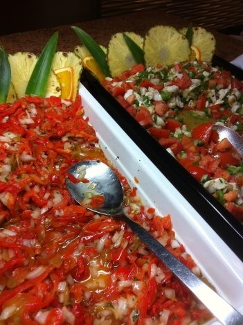 food, red peppers, hotel, Elba Hotel, Costa Ballena