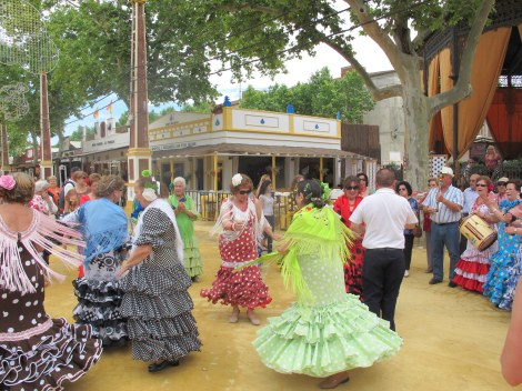 Dancing Sevillanas in the street - for all ages.
