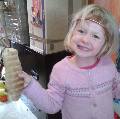 Here's some I made earlier - baking bread in Parents' Week.