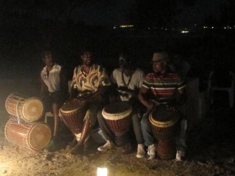 The band -Senegalese drummers