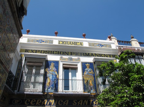 One of Seville's best-known facades: Ceramica Santa Ana - its workshops and kilns now make up the Centro Ceramica Triana.