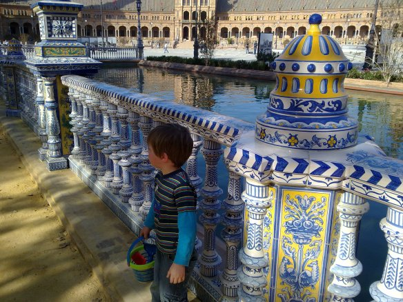 Plaza de España was designed for Expo 1929 as a showcase for Seville's tile industry.