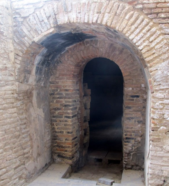 Entrance to one of the seven kilns. where the ceramic tiles and other products were fired.