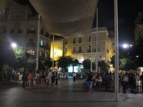 Plaza del Salvador, a popular venue for carousing of a night.