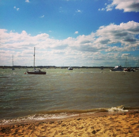 Bawdsey beach - huge sky, river, sand... and, mercifully, nothing else.
