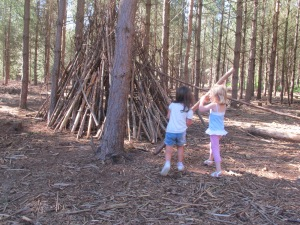 Den-building is a perfect forest pastime.