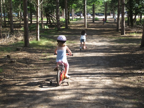 Rendlesham is a great place for family bike rides.