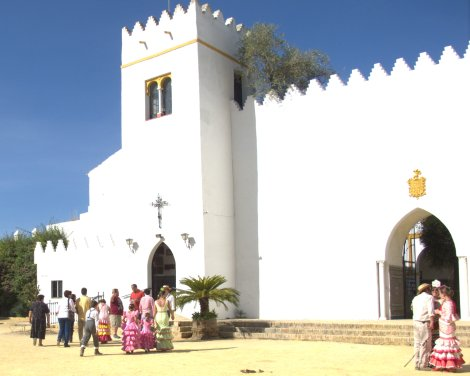 Entrance through the left arch, exit on the right - the chapel of Hacienda de Torrijos