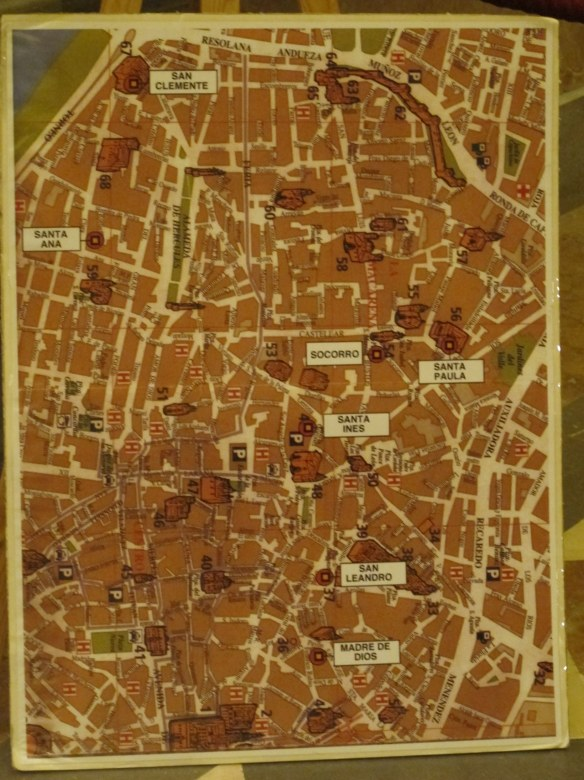 The location of convents which make and sell pastries around Seville. Most have their own shops, and many bakeries stock their goodies too.