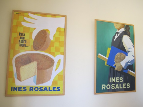 Original ads decorate the walls at Ines Rosales.