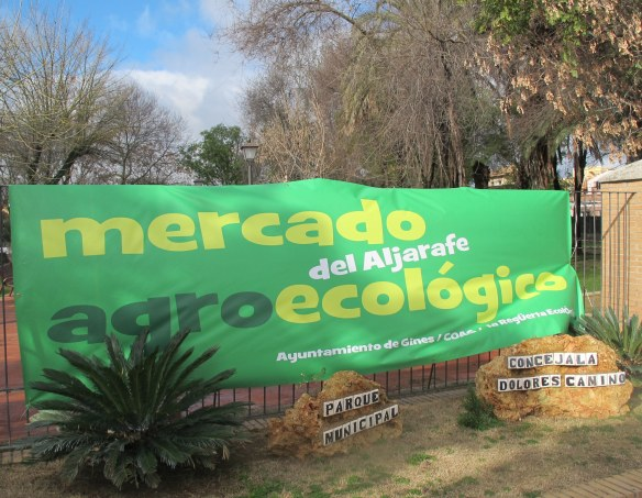 The aljarafe eco-market is now held on the third Saturday of every month.